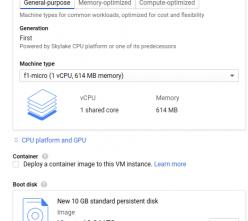GCP compute engine instance create